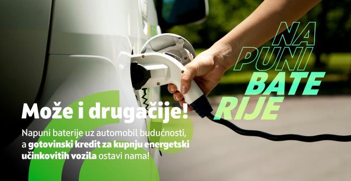 Gotovinski krediti za kupnju energetski učinkovitih vozila u HRK