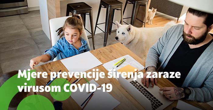 Mjere prevencije širenja zaraze virusom COVID-19