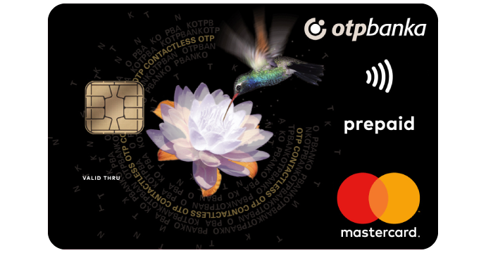 Mastercard contactless prepaid kartica